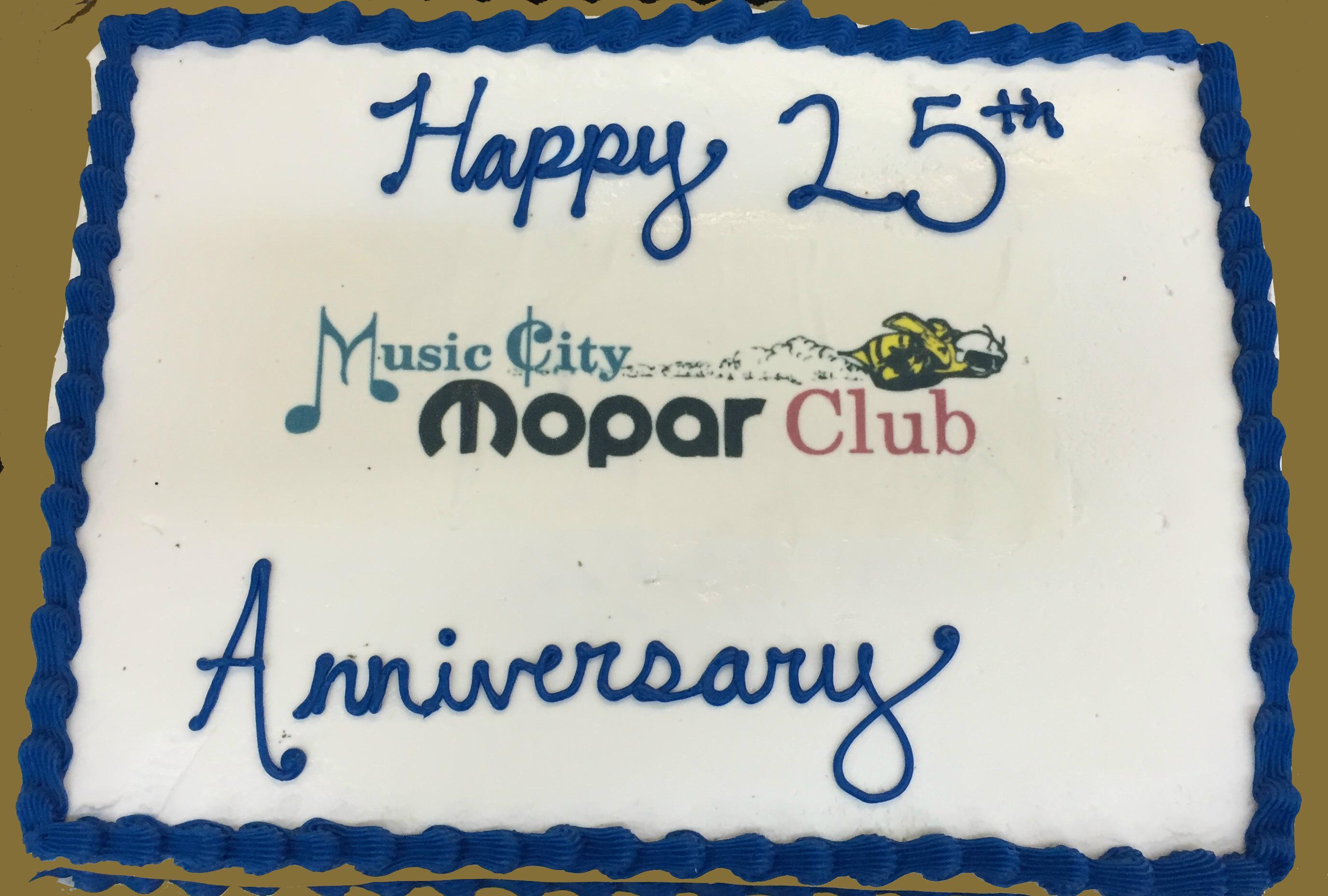25th Anniversary Cake
