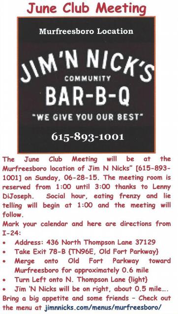 2015 June Club Meeting