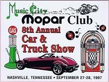 1997 Car Show Plaque