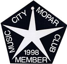 1998 Member Placard