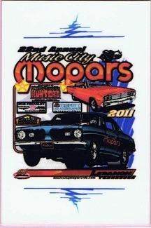 2011 Car Show Plaque