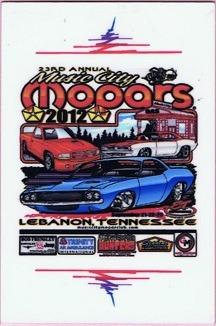 2012 Car Show Plaque
