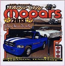 2013 Car Show Plaque