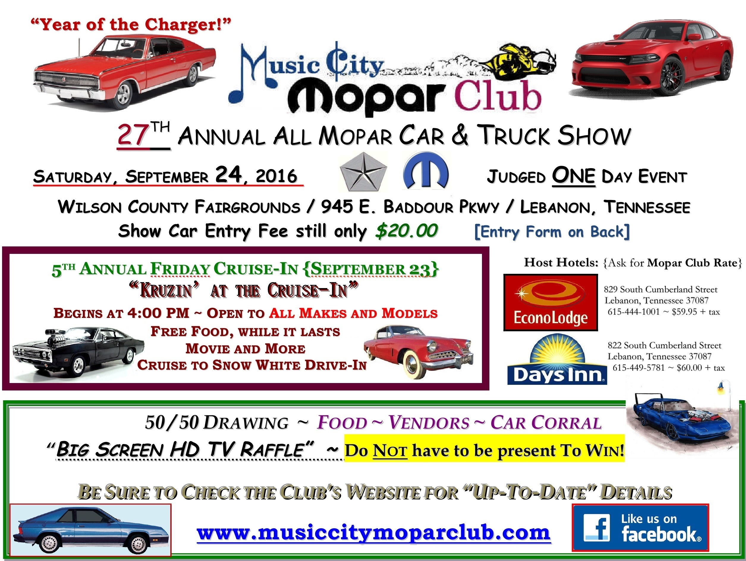 27th Annual All Mopar Show Registration Form   Welcome to the Music ...