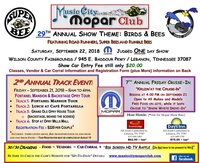 Welcome to the Music City Mopar Club