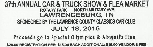 37th Annual Lawrenceburg Show 07-18-2015